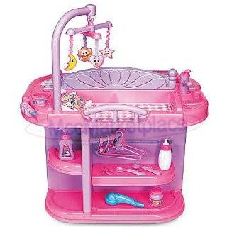 Toddler Girls Pretend Play Baby Doll Toy Crib Nursery Changing Table