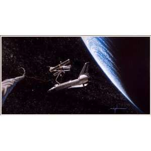 Out Takin Five Space Art Signed Print Direct From the