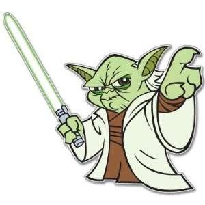 Star Wars Yoda car bumper window sticker decal 4 x 4