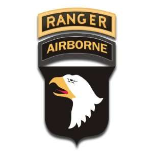 United States Army 101st Airborne Ranger Tab Decal Sticker