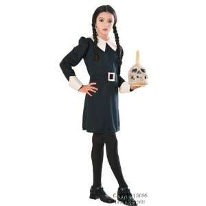 Childs Addams Family Wednesday Costume (Size:Small 4 6