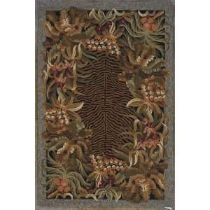 Kas Colonial Jungle Black 1720 30 X 50 Area Rug: Home