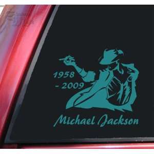 Michael Jackson 1958   2009 Vinyl Decal Sticker   Teal