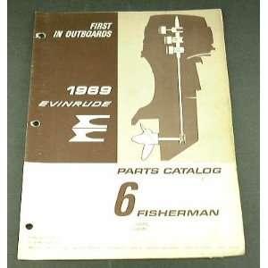 1969 69 EVINRUDE 6 FISHERMAN Boat Motor PARTS Catalog