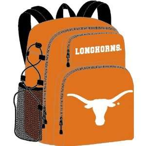 Texas Longhorns Orange Backpack with Team Logo Sports
