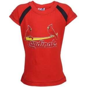 Cardinals Preschool Girls Red Team Logo T shirt