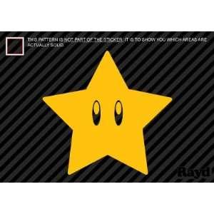 (2x) Mario Bros Star   Sticker   Decal   Die Cut