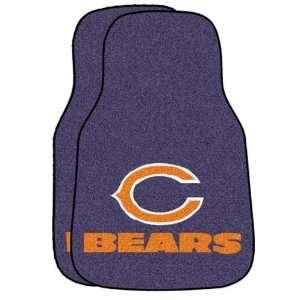 NFL Chicago Bears 2 Piece Cromo Jet Printed Floor Car Mat