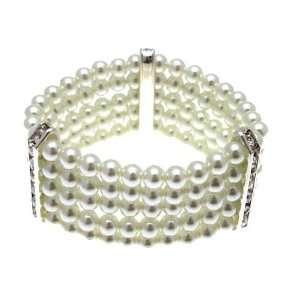 Acosta Jewellery   Faux Pearl & Crystal   5 Row Fashion