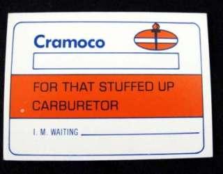 Cramoco Amoco Gasoline Fake Credit Card Trading Card FUNNY HUMOROUS