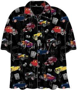NEW Ford 32 Deuce Coupes Hot Rods Hawaiian Shirt, M