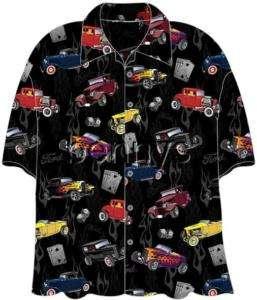 NEW Ford 32 Deuce Coupes Hot Rods Hawaiian Shirt, M