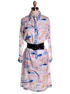 Vintage Lord & Taylor Pucci esque Shift Dress 1970s M