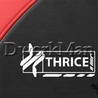 Thrice Decal Truck Bumper Window Vinyl Sticker