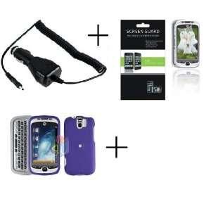HTC MYTOUCH SLIDE 3G Purple Rubberized Hard Protector Case