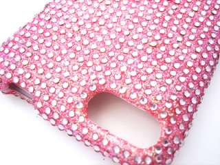 BABY PINK DIAMOND BLING CRYSTAL FACEPLATE CASE COVER APPLE iTOUCH 2ND