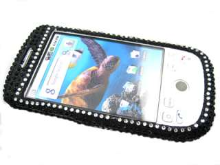 RHINESTONE BLING CRYSTAL FACEPLATE HARD SKIN CASE COVER HTC MY TOUCH
