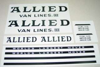 Tonka Allied Moving Semi Truck/Trailer Decals TK 049