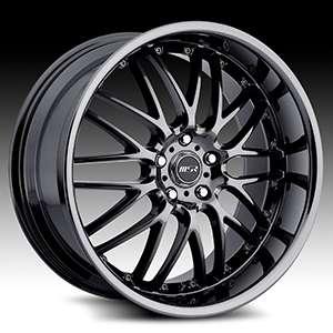 20 x8.5 MSR 093 0937 S/F Black Wheels Rims 5 Lug