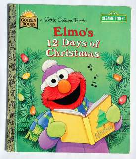 Sesame Street Book 1996 Golden ELMO 12 DAYS CHRISTMAS