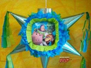 Pinata Buzz Light Year Toy Story Holds Candy Folk Art