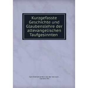 .: Cornelis Ris Carl Heinrich Anton van der Smissen : Books