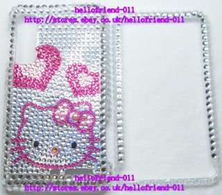 New hello Kitty Bling Full Case Cover for Motorola Droid 3 #2