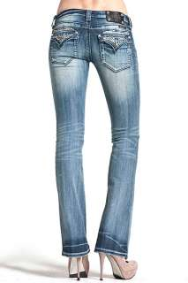Miss Me Fly Away Day and Night Crystal Wing Boot Jeans