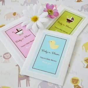 Wedding Favors Baby in Bloom Personalized Shower Seed Packets (Set of