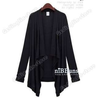 Fashion Womens Long Sleeve Open Front Cardigan Tops Jacket T Shirt