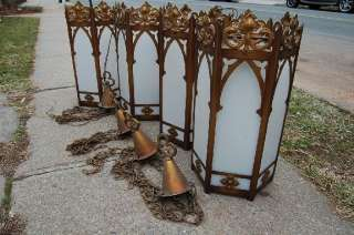 Set of 4 Traditional Church Lighting Fixtures +Lights
