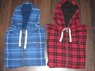 Polo Ralph Lauren Plaid Zip Sweatshirt Hoodie SMALL XXL