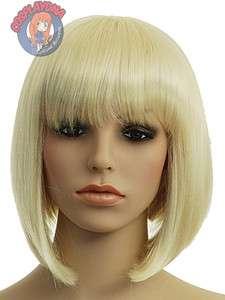 12 inch Kanekalon Series Blonde A Line Bob Short Cosplay DNA Wigs