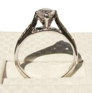 NEW swarovski crystal white Gold GP princess Ring engagement christmas