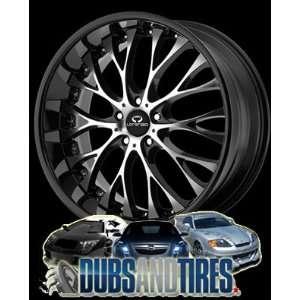 20 Inch 20x8.5 LORENZO wheels WL27 Gloss Black w/ Machined Face wheels