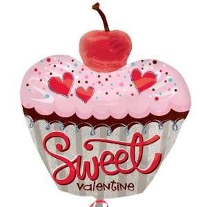 Sweet Valentines Day Cupcake Jumbo Foil Balloon