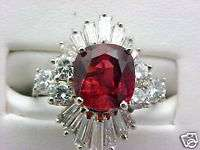 EGL CERTIFIED 4.22 NATURAL RUBY DIAMOND RING $13,900.00