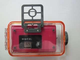 Underwater digital camera, 6m waterproof, red, 0.3MP VGA unreal