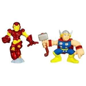 Marvel Super Hero Squad ? Iron Man and Thor Toys & Games