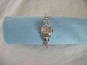 Ladies Longines 14k white gold watch