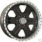 16 American Racing Fuel Glossy Black Custom Wheels RWD
