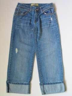 OLD NAVY Girls Distressed Boyfriend Cropped Capri Jeans Pants, 10