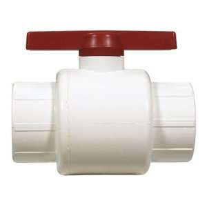 2000 T 2 Inch Threaded PVC Schedule 40 Commercial Ball Valve, White
