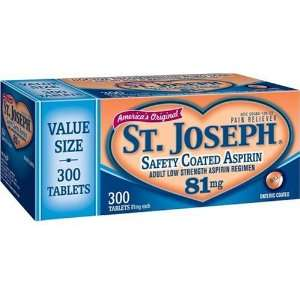 St. Joseph Adult Low Strength Aspirin Regimen, 81 mg, Safety Coated