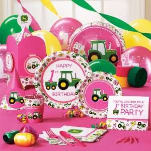John Deere 1st Birthday Deluxe Party Pack for 16 Toys & Games