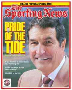 Crimson Gene Stallings 1997 Sporting News Pride of the Tide Roll Tide
