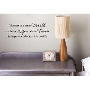 Faith Makes All Things Home Decor Wall Quote Decal