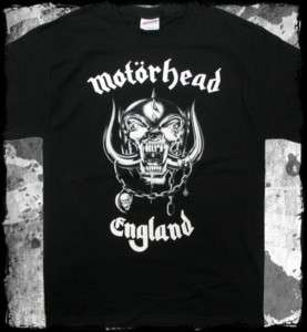Motorhead england logo t shirt   lemmy heavy metal rock