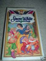 WALT DISNEY OF SNOW WHITE AND THE SEVEN DWARFS VHS TAPE