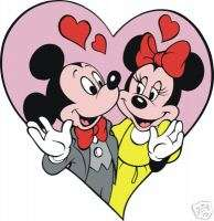 Mickey & Minnie Mouse Love #20 8x10 Iron on Transfer